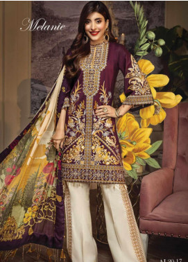 Anaya By Kiran Chaudhry Embroidered Lawn Unstitched 3 Piece Suit AKC20L 17 MELANIE - Luxury Collection