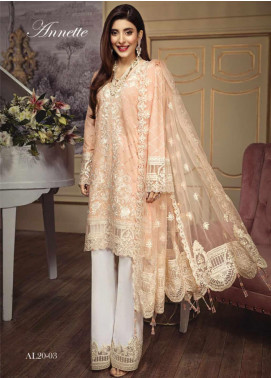 Anaya By Kiran Chaudhry Embroidered Lawn Unstitched 3 Piece Suit AKC20L 03 ANNETTE - Luxury Collection