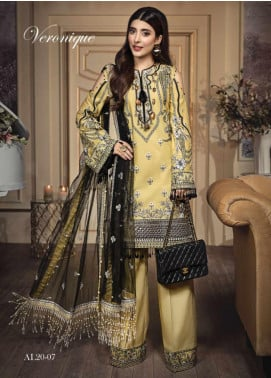 Anaya By Kiran Chaudhry Embroidered Lawn Unstitched 3 Piece Suit AKC20L 07 VERONIQUE - Luxury Collection