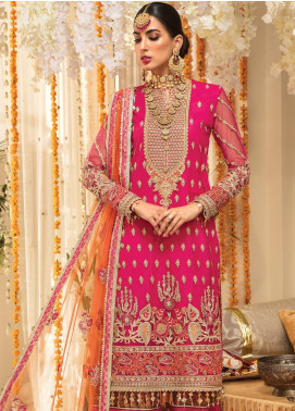 Anaya By Kiran Chaudhry Embroidered Net Unstitched 3 Piece Suit AKC19MC 02 FARAHNAZ - Wedding Collection