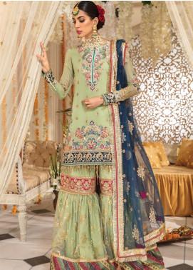 Anaya By Kiran Chaudhry Embroidered Chiffon Unstitched 3 Piece Suit AKC19MC 03 AMALIA - Wedding Collection