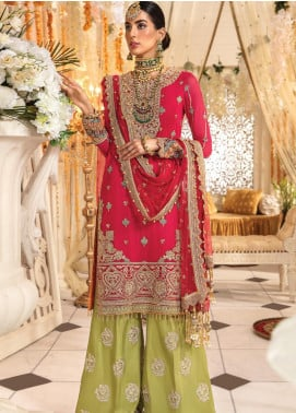 Anaya By Kiran Chaudhry Embroidered Chiffon Unstitched 3 Piece Suit AKC19MC 05 TAMARA - Wedding Collection