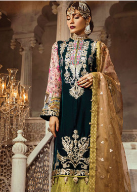 Anaya By Kiran Chaudhry Embroidered Velvet Unstitched 3 Piece Suit AKC18KR  01 Samarkand - Wedding Collection