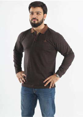 Anchor Jersey Polo T-Shirts for Men - Brown A-184