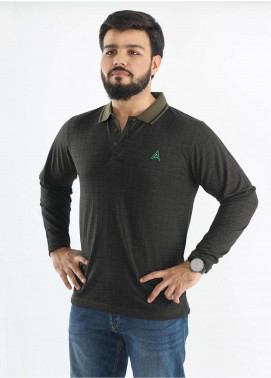 Anchor Jersey Polo Men T-Shirts - Olive A-186