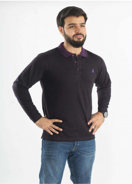 Anchor Jersey Polo T-Shirts for Men - Plum A-187