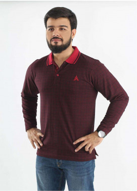 Anchor Jersey Polo T-Shirts for Men - Maroon A-189