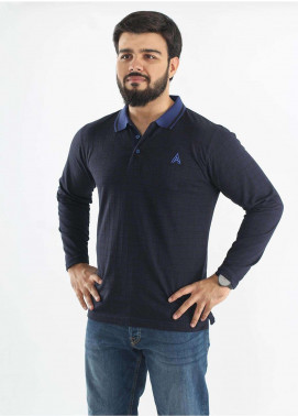 Anchor Jersey Polo Men T-Shirts - Navy Blue A-190