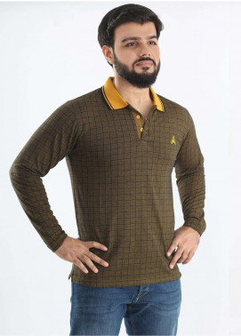 Anchor Jersey Polo T-Shirts for Men - Mustard A-191