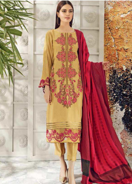 Aniq by Charizma Embroidered Leather Unstitched 3 Piece Suit CRZ20AL ANW-02 - Festive Collection