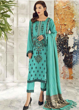 Aniq by Charizma Embroidered Marina Unstitched 3 Piece Suit CRZ20AL ANW-07 - Festive Collection