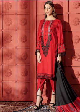 Aniq by Charizma Embroidered Leather Unstitched 3 Piece Suit CRZ20AL ANW-09 - Festive Collection