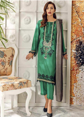 Aniq by Charizma Embroidered Marina Unstitched 3 Piece Suit CRZ20AL ANW-10 - Festive Collection