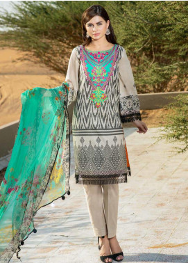 Aniq by Charizma Embroidered Lawn Unstitched 3 Piece Suit CRZ20A-001 - Spring / Summer Collection