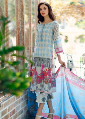 Aniq by Charizma Embroidered Lawn Unstitched 3 Piece Suit CRZ20A-008 - Spring / Summer Collection