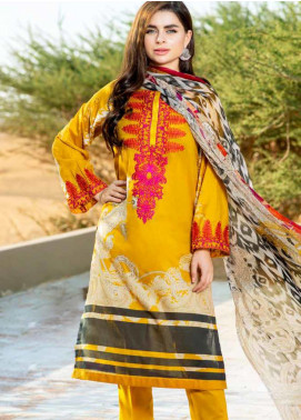 Aniq by Charizma Embroidered Lawn Unstitched 3 Piece Suit CRZ20A-010 - Spring / Summer Collection