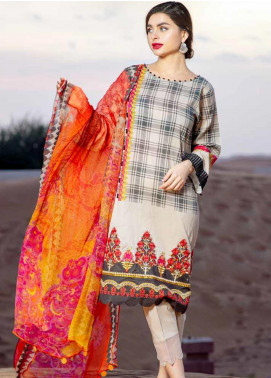 Aniq by Charizma Embroidered Lawn Unstitched 3 Piece Suit CRZ20A-011 - Spring / Summer Collection