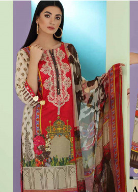 Aniq by Charizma Embroidered Lawn Unstitched 3 Piece Suit CRZ20A-012 - Spring / Summer Collection