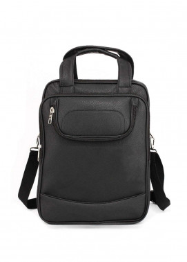 Anna Grace London Faux Leather BackPack Bags for Unisex - Black