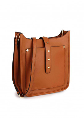 Anna Grace London Faux Leather Shoulder  Bags for Woman - Brown
