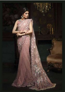 Aayra Embroidered Chiffon Unstitched Saree AR18C 04