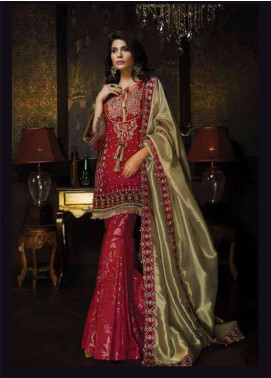 Aayra Embroidered Chiffon Unstitched 3 Piece Suit AR18C 07