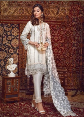 Areej By A-Meenah Embroidered Cotton Unstitched 3 Piece Suit AME19C 04 Inaara - Luxury Collection