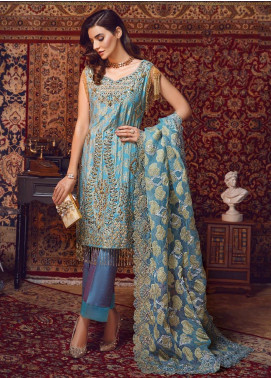 Areej By A-Meenah Embroidered Organza Unstitched 3 Piece Suit AME19C 05 Kanz - Luxury Collection