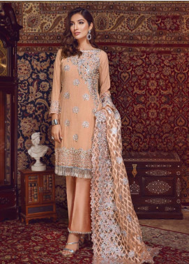 Areej By A-Meenah Embroidered Cotton Unstitched 3 Piece Suit AME19C 08 Menaal - Luxury Collection