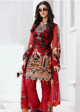 Areesha Embroidered Chiffon Unstitched 3 Piece Suit ARE20-LC8 01 - Luxury Collection