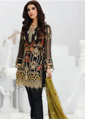 Areesha Embroidered Chiffon Unstitched 3 Piece Suit ARE20-LC8 02 - Luxury Collection