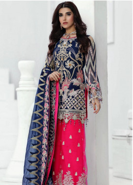 Areesha Embroidered Chiffon Unstitched 3 Piece Suit ARE20-LC8 03 - Luxury Collection