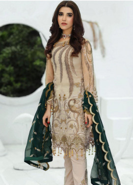 Areesha Embroidered Chiffon Unstitched 3 Piece Suit ARE20-LC8 04 - Luxury Collection