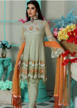 Areesha Embroidered Chiffon Unstitched 3 Piece Suit ARE20-LC8 06 - Luxury Collection