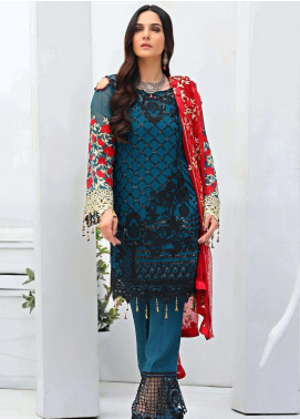 Areesha Embroidered Chiffon Unstitched 3 Piece Suit ARE20-LC8 07 - Luxury Collection