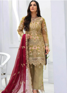 Areesha Embroidered Chiffon Unstitched 3 Piece Suit ARE20-LC8 08 - Luxury Collection
