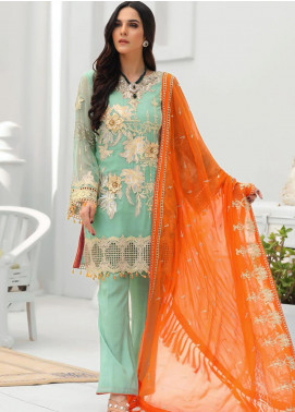 Areesha Embroidered Chiffon Unstitched 3 Piece Suit ARE20-LC8 09 - Luxury Collection