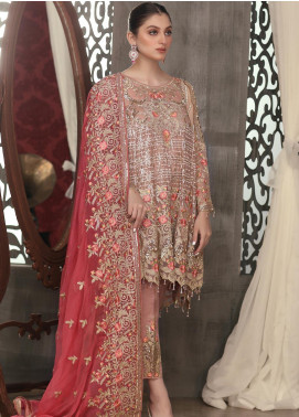 Areesha Embroidered Chiffon Unstitched 3 Piece Suit ARE20LC 10 - Luxury Collection