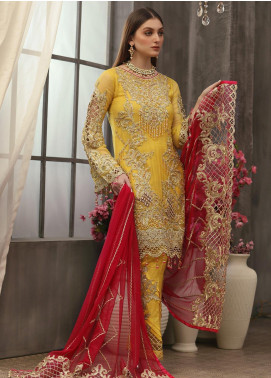 Areesha Embroidered Chiffon Unstitched 3 Piece Suit ARE20LC 2 - Luxury Collection