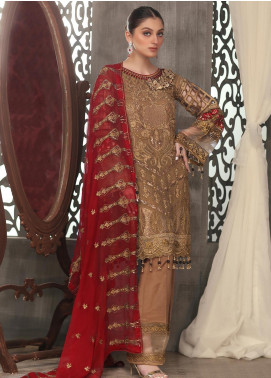 Areesha Embroidered Chiffon Unstitched 3 Piece Suit ARE20LC 3 - Luxury Collection