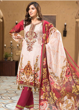 Arena by Mohagni Embroidered Lawn Unstitched 3 Piece Suit MO20A-2 SLF-01 - Spring / Summer Collection