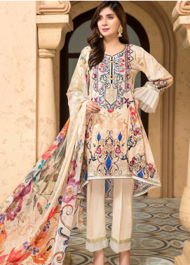 Arena by Mohagni Embroidered Lawn Unstitched 3 Piece Suit MO20A-2 SLF-02 - Spring / Summer Collection