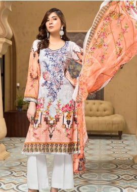 Arena by Mohagni Embroidered Lawn Unstitched 3 Piece Suit MO20A-2 SLF-03 - Spring / Summer Collection