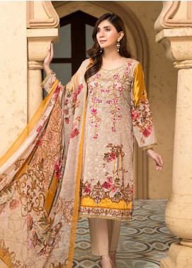 Arena by Mohagni Embroidered Lawn Unstitched 3 Piece Suit MO20A-2 SLF-05 - Spring / Summer Collection