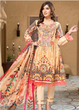 Arena by Mohagni Embroidered Lawn Unstitched 3 Piece Suit MO20A-2 SLF-06 - Spring / Summer Collection