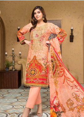 Arena by Mohagni Embroidered Lawn Unstitched 3 Piece Suit MO20A-2 SLF-07 - Spring / Summer Collection