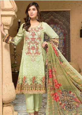 Arena by Mohagni Embroidered Lawn Unstitched 3 Piece Suit MO20A-2 SLF-08 - Spring / Summer Collection