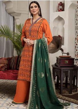 Arena by Mohagni Embroidered Linen Unstitched 3 Piece Suit AMO20LN 01 - Winter Collection