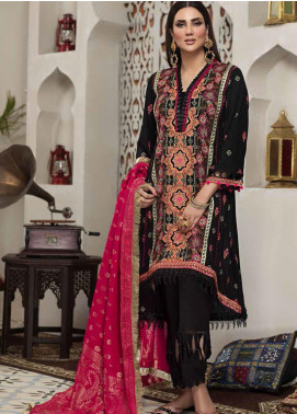 Arena by Mohagni Embroidered Linen Unstitched 3 Piece Suit AMO20LN 02 - Winter Collection