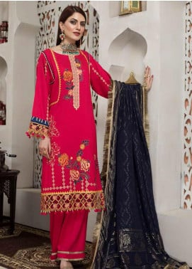 Arena by Mohagni Embroidered Linen Unstitched 3 Piece Suit AMO20LN 05 - Winter Collection